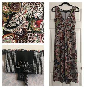 Slinky Brand Empire Waisted Maxi Dress - Multi